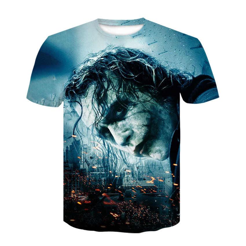 Крутая футболка с клоуном, летняя футболка, футболка для отдыха, уличная одежда, большие размеры