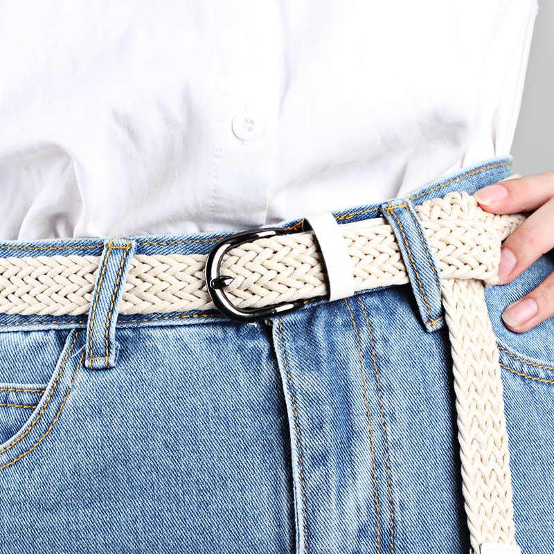 Bán Nữ Dây Đeo Cổ Sáp Dây Áo Ngực Dây Lưng 2019 Nữ Dây Cho Quần Jean Nữ Dây Kim Loại khóa Dệt Kim Dây
