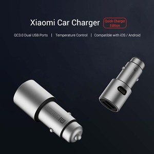 Image 4 - Xiaomi Car Charger QC 3.0 Dual USB Quick Charge 5V/3A 9V/2A Mi Car Charger For Android iOS For iPhone Mobile Phone
