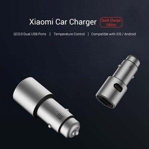 Image 4 - Ładowarka samochodowa Xiaomi QC 3.0 Dual USB szybkie ładowanie 5V/3A 9V/2A Mi ładowarka samochodowa dla androida iOS dla iPhone telefon komórkowy
