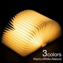 Book-Light Table Bedside Wooden Christmas-Gifts LED Mood Folding 3D for Kids Children