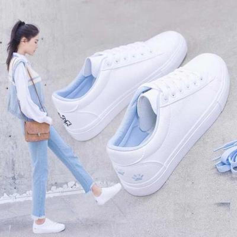 2020 New Fashion Women Shoes Low Heel Female Shoes Flat Shoes Casual Shallow Sewing White Shoes for Woman Footwear|Women's Vulcanize Shoes| - AliExpress