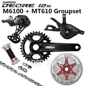 Image 2 - Shimano Deore M6100 Groepset 34T 32T Crankstel Mountainbike Groepset 1x12 Speed 10 51T 11 51T M6100 Groepset + MT610 Crank