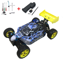 цена на HSP RC Car 1:10 Scale 4wd RC Toys Two Speed Off Road Buggy Nitro Gas Power 94106 Warhead High Speed Hobby Remote Control Car