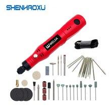 Perceuse électrique, Mini perceuse électrique sans fil 3.6V outils électriques meuleuse stylo à graver jeu daccessoires de meulage travail du bois 3 vitesses pour le bricolage à domicile