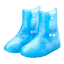 Унисекс утолщаются на открытом воздухе низкие сапоги Водонепроницаемый противоскользящее покрытие для обуви во время дождя Чехлы многоразовые бесшовный износостойкий галоши двубортное пальто