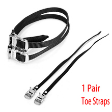 1 Pair Strengthen Nylon Fixed Gear Bicycle Toe Straps Cycling Bike Pedal Foot Non Slip Workout Security Belts Binding