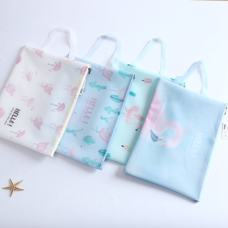A4 Creative Stationery New Pink Series Zipper Bag File Bag Folder