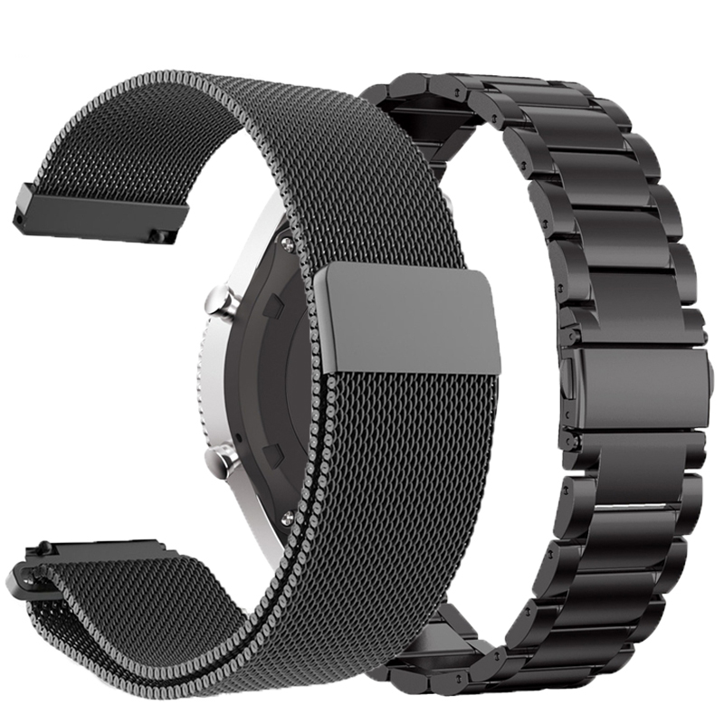 For Xiaomi Huami Amazfit Stratos 3 2 2S/pace Strap Metal 22mm Watchband For Amazfit GTR 47mm Band For Huawei Watch GT GT2 Steel