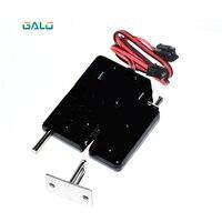 Dc12v 2a solenóide eletromagnética armário de controle elétrico gaveta armários bloqueio trava push-push primavera design