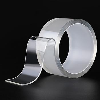 1M 3M 5M nano magiczna taśma podwójnie taśma dwustronna przezroczysta NoTrace wielokrotnego użytku wodoodporna taśma może czysty dom tanie i dobre opinie Z gumy silikonowej 10 Woodworking Tape Electrical Tape Waterproof tape Double-sided tape Nano-tape transparent Magic tape