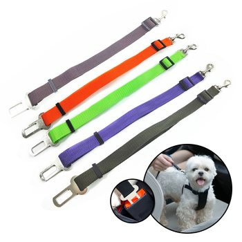 Pet Dog Cat Car Seat Belt Adjustable Seat Belt Lead Rope For Small And Medium-sized Dog Travel Clip Pet Supplies image