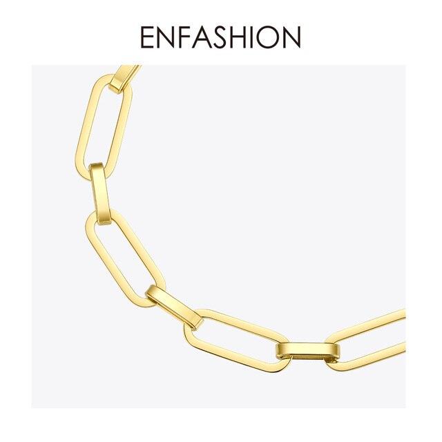 Купить enfashion панк звено цепи браслет для мужчин золотой цвет нержавеющая картинки цена