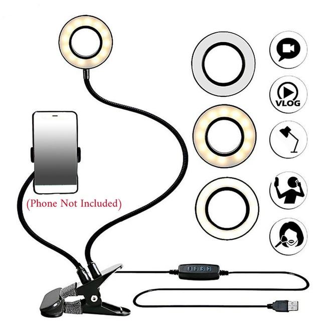 LED Ring Light with Cell Phone Mobile Holder