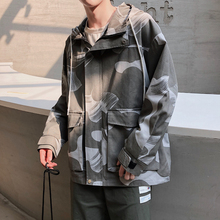 Autumn New Camo Jacket Men Fashion Military Wind Casual Cotton Hooded Jacket Coat Man Streetwear Loose Hip Hop Bomber Jacket Men цена 2017