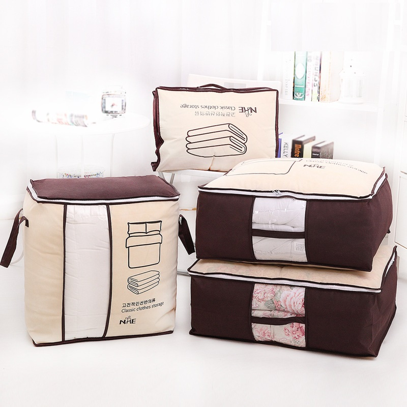 Non-Woven Family Save Space Bed Under Closet Storage Box Clothes Divider Quilt Bag Holder Organizer