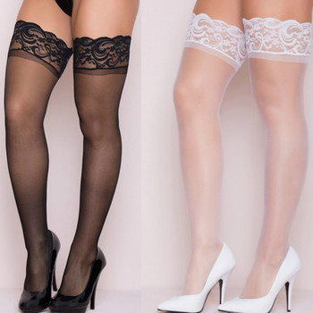 Seksowne pończochy 2020 nowych kobiet bielizna koronkowe pończochy przezroczyste pończochy seksowna długa rurka wysokie pończochy nad kolanami jedwabne pończochy tanie i dobre opinie shengrenmei spandex NYLON N-0230 Stałe Cienkie frosted packing (secret send) Height 155-178cm Thigh 38-50cm Sexy Stockings