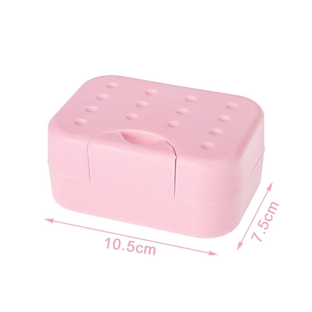 1pc przenośne cukierki wyprzedaż kolor mydło pojemnik na naczynia pojemnik do przechowywania pojemnik umyć prysznic łazienka w domu
