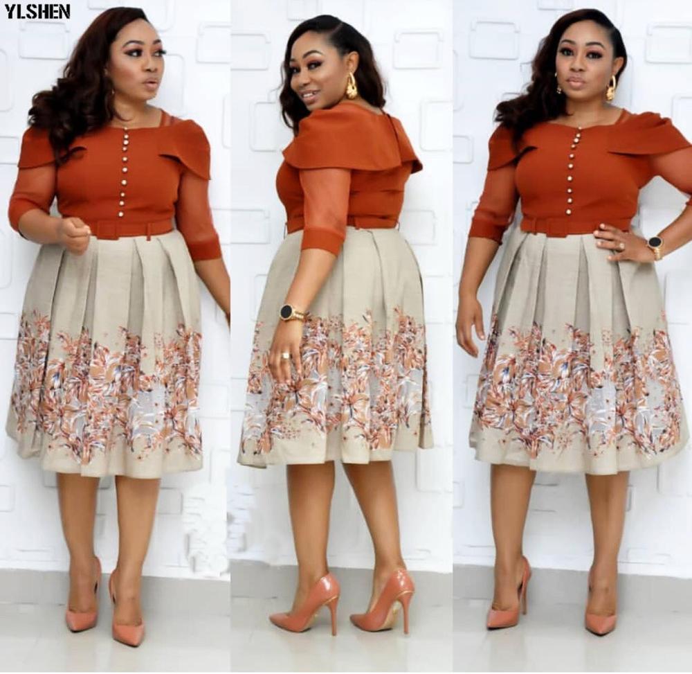 New Fashion Print African Dresses For Women Dashiki Autumn Style Ankara Clothes Africa Dress Ladies Robe Africaine Femme 2019