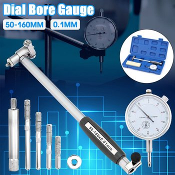 50-160mm 0.01mm Accurate Dial Bore Gauge Indicator Engine Cylinder Micrometer Measuring Tools Test Set New Arrival 2019 Box Gift