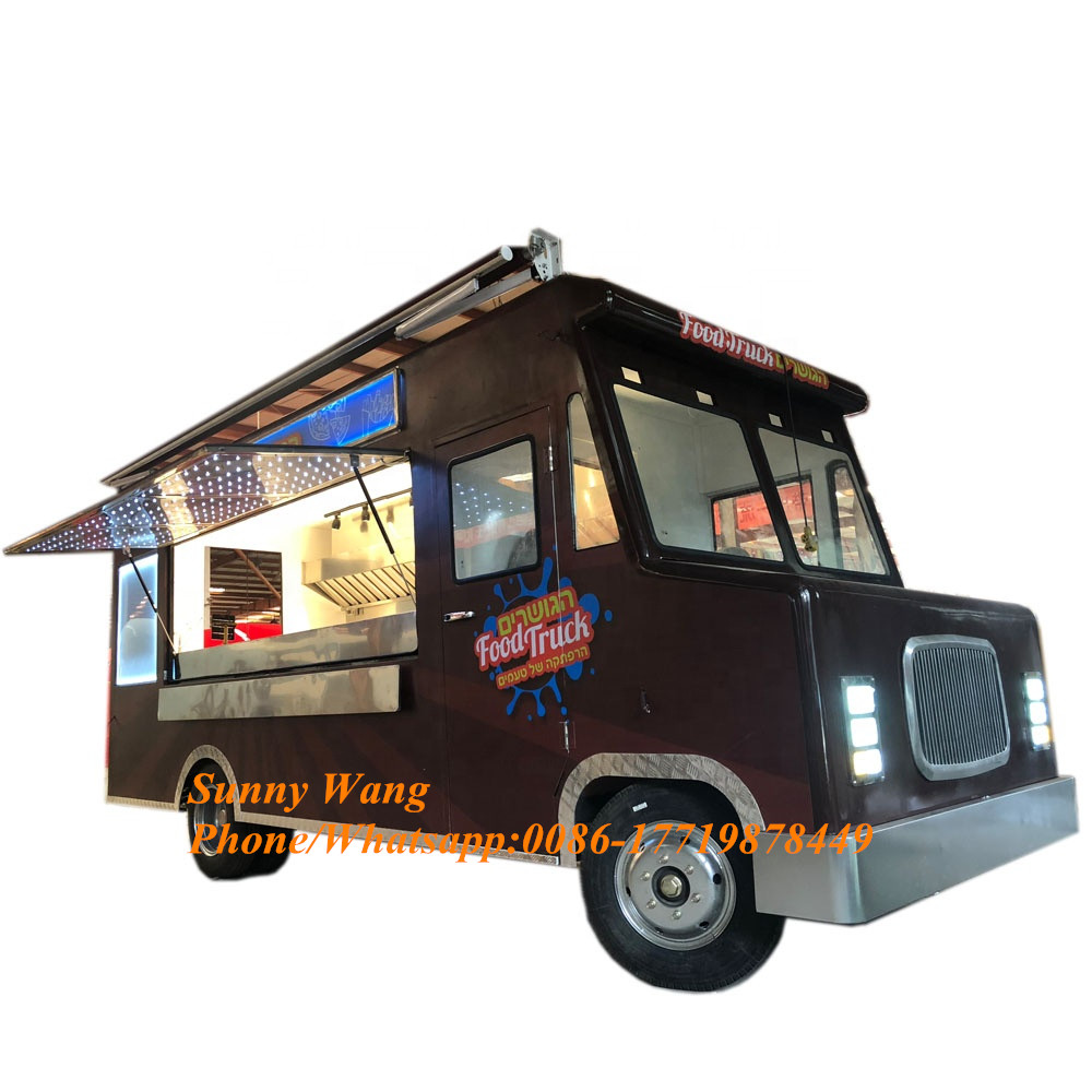 Hot Sales Fried Chicken Mobile Electric Fast Food Truck Stainless Steel Food Truck Equipment