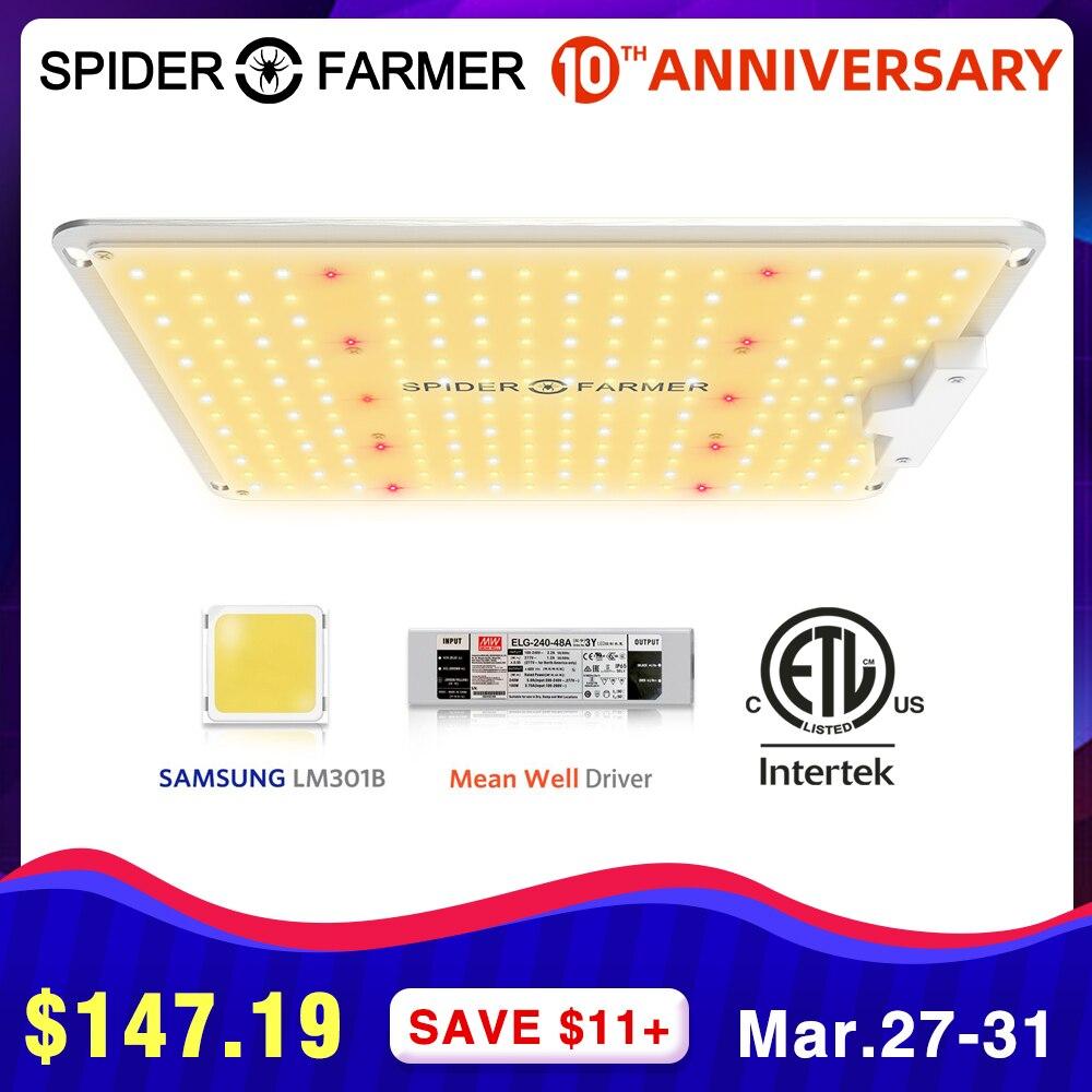 Sf 1000 w espectro completo led crescer lâmpada de luz para vegetais flores aranha agricultor samsung lm301b meanwell motorista crescente luzes
