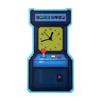 Máquina de jogo de arcada em forma de parede moderna pendurado relógio de parede jogo sobre engraçado relógio de parede decorativo relógio de parede decoração da sala de jogo gamers presente