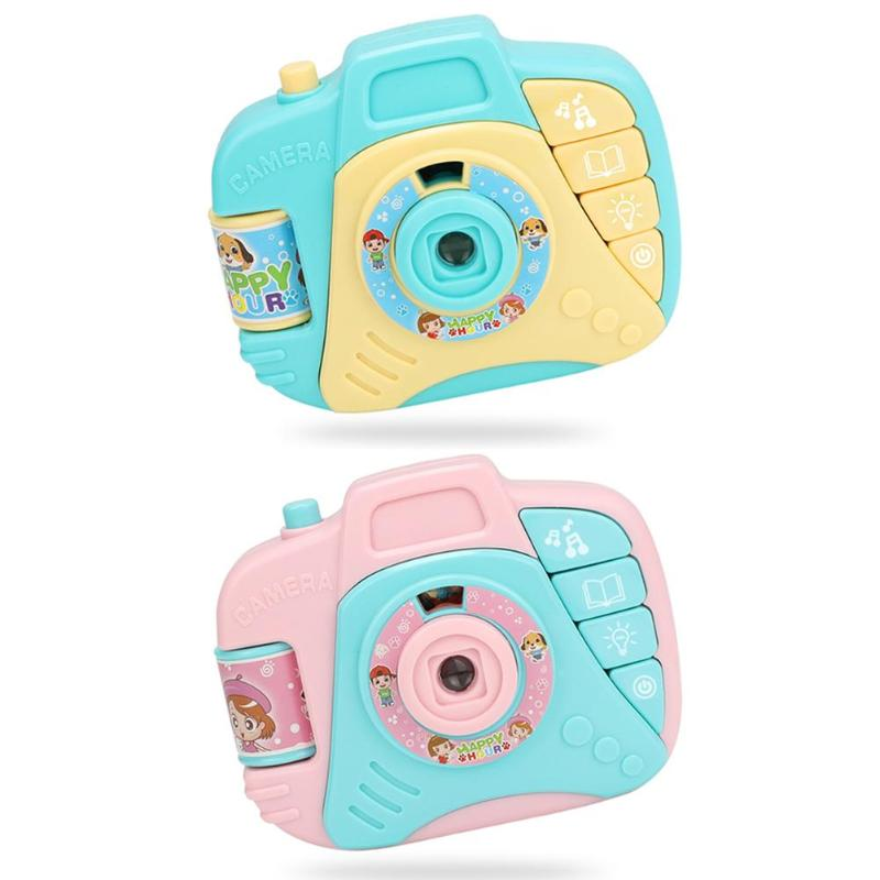 Simulation Camera Toy Children Gift Originality Portable Cartoon Personality No Memory Projection Light Music Education Toy