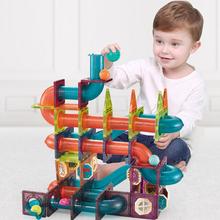 261 sztuk magnetyczne Race Maze Balls Track Kids Building Blocks Big Size Building Track zestaw modeli zabawki edukacyjne z naklejkami tanie tanio ASWJ Z tworzywa sztucznego 7-9Y 10-12Y 13-14Y