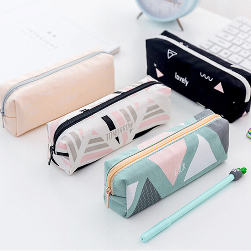Women Toiletry Beauty Box Travel Cosmetic Bag Fashion Makeup Brush Bag Zipper Pencil Case Make Up Organizer Storage Pouch Case