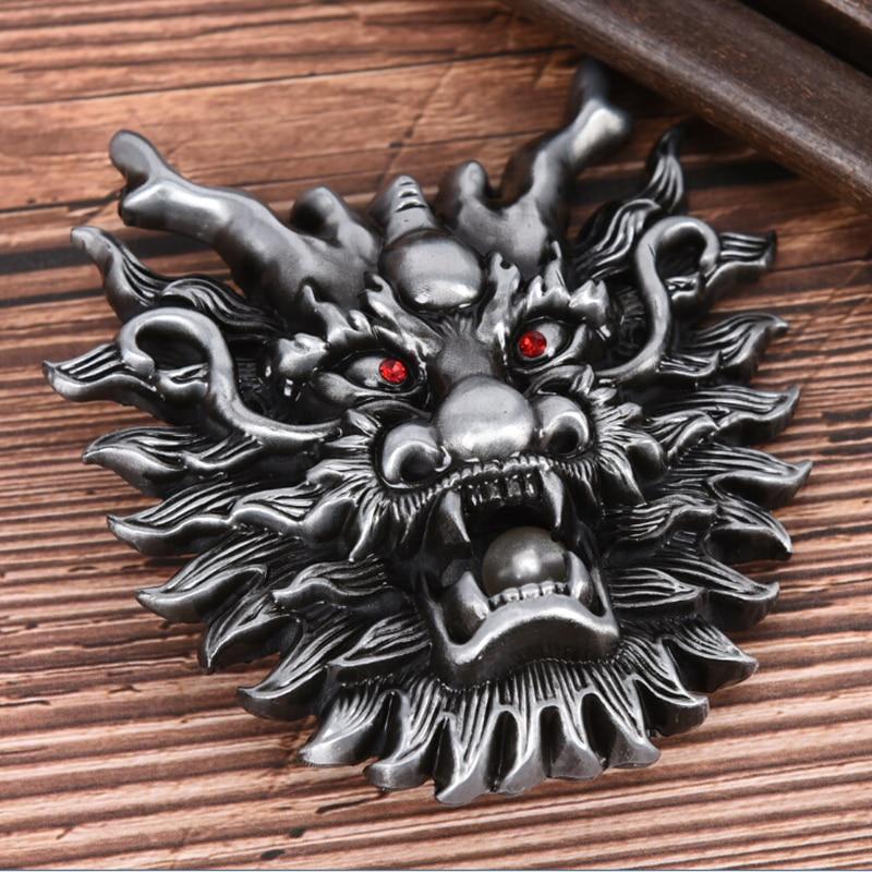 Dragon Metal Cool Belt Buckles For Man Unisex Western Fashion Buckle Cowboys Cowgirls Paracord Buckle