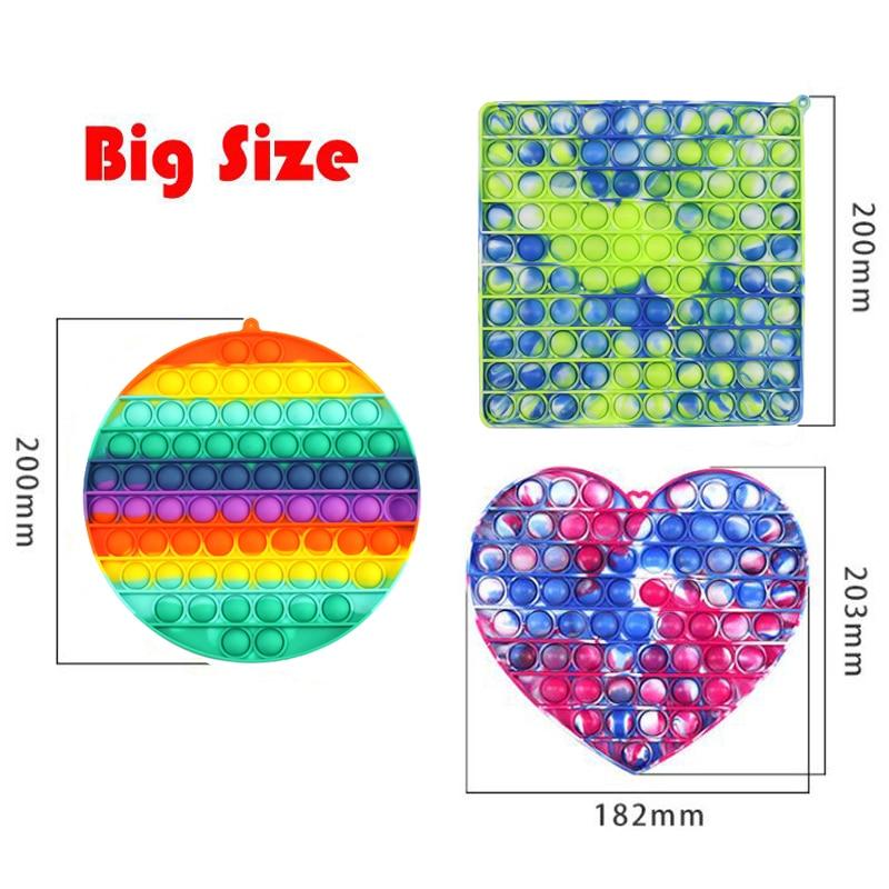 Fidget-Toys Pendant Schoolbag Relief-Toy Bubble Anti-Stress Squishy Pop-It-Push Popit Soft