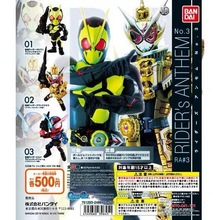 Original Bandai Kamen Rider Anthem no.3 Zi O Zero One Gashapon figure set