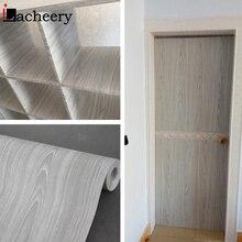 Rollo de papel pintado de vinilo de madera resistente al agua de 5 M, adhesivo para puerta de armario o armario DIY, Película autoadhesiva, decoración para sala de estar Vintage