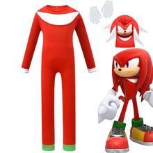 New Arrival Sonic jeż kostium kostium halloweenowy dla dzieci dla dzieci tanie tanio CN (pochodzenie) Jumpsuit Mask Gloves anime Unisex Zestawy Other ZXT002 Poliester Kostiumy