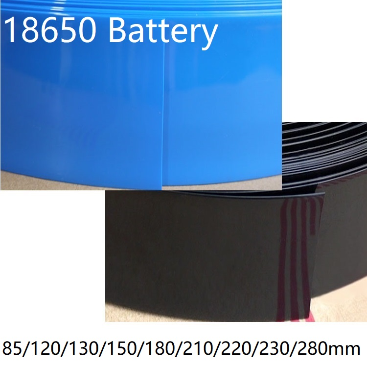 18650 Lipo Battery Width 85 120 130 <font><b>150</b></font> 180 <font><b>210</b></font> 220 230 280mm PVC Heat Shrink Tube Insulated Film Wrap Protect Case Cable Sleeve image