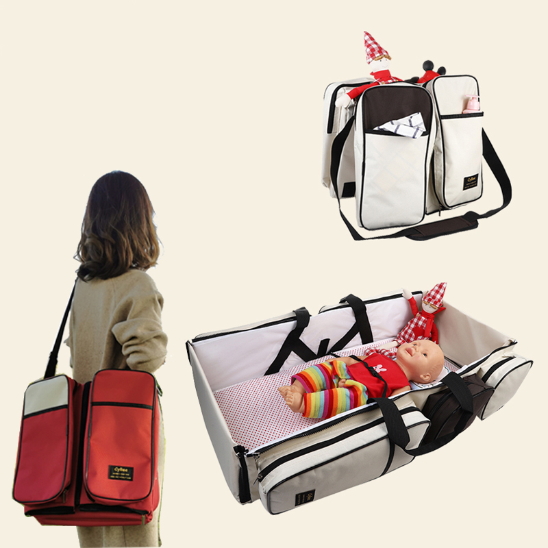 Baby Diaper Bag  Washable Baby Travel Bag Collapsible Removable Mosquito Proof Baby Sleeping Crib Light Weight Baby Caer Bags