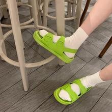 2021 Korea Style Fashion Beach Sandals Female Rome Sandal Platform Buckle Summer Shoes Woman Preppy Sandalias Footwear SH366