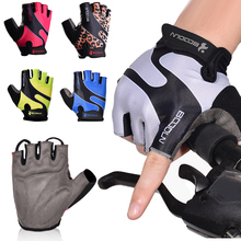 Half Finger Cycling Gloves Anti-Slip Anti-Sweat Bicycle Riding Gloves For MTB Road Mountain Bike Glove Anti Shock Sport 1Pair серьги evora 628246 e