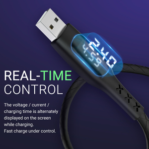 Image 3 - hoco usb charging cable for type c with timer display data sync timing fast charger for Samsung Xiaomi Huawei usb c wire fast