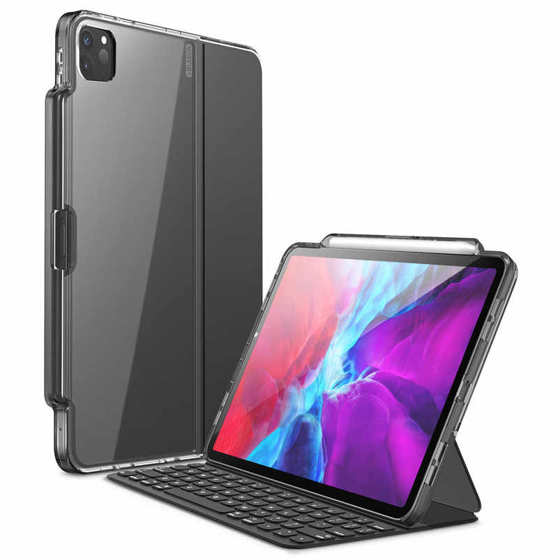 For iPad Pro 11 Case (2020) [ONLY Compatible with Official Smart Keyboard Folio] I-BLASON Halo Hybrid Cover with Pencil Holder