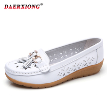 2019 Women Flats Ladies Slip-On Loafers Shoes Women Genuine Leather Casual Boat Shoes Party Flat Shoes Big Size 35-41 2018 hot women flats shoes women loafers ladies slip on flats 9 color genuine leather shoes driving casual women shoes plus size