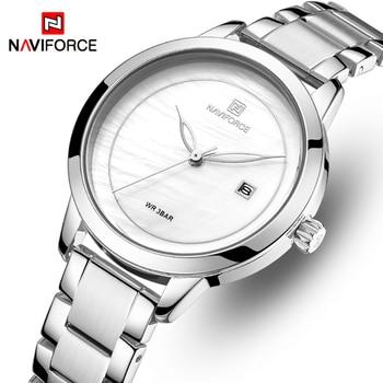 NAVIFORCE 5008 Woman Watches Top Brand Luxury Watch Women Waterproof Quartz Women's Wristwatch Ladies Watches Clock with box