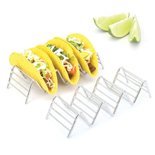 Wave Shaped Pizza Rack Tool Kitchen Bread Toast Racks Stand Creative Stainless SteelRestaurant Food Show