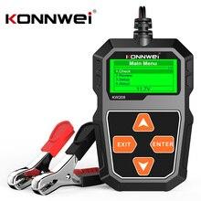 KONNWEI – testeur de batterie de voiture, outils de Test de batterie de moto, prise de charge de batterie 100 à 2000CCA, KW208, 12V