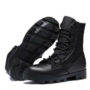 Image 5 - Professionele Militaire Laarzen Voor Mannen Speciale Kracht Lederen Desert Combat Laarzen Heren Outdoor Waterdichte Leger Enkellaarsjes