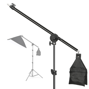 Image 1 - Photo Studio Adjustable Cantilever Stand Cross Arm With Sand Bag Pivot Clamp Use For Light Stand Accessories Extension Rod 135CM