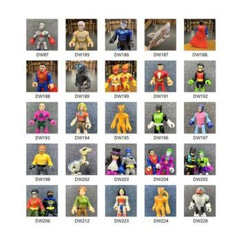 """Figuras de acción de Superman de DC, Batman, Joker, Superman de 2,8 """", mini figuras de superhéroes, juguetes para chico, colección de regalos para niños"""
