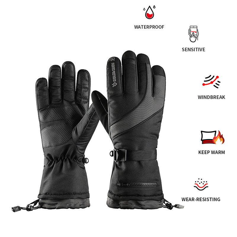 New Winter Warm Mountain Snowboard Ski Gloves Waterproof Snowmobile Snow Gloves Heated Gloves With Touchscreen For Men Women