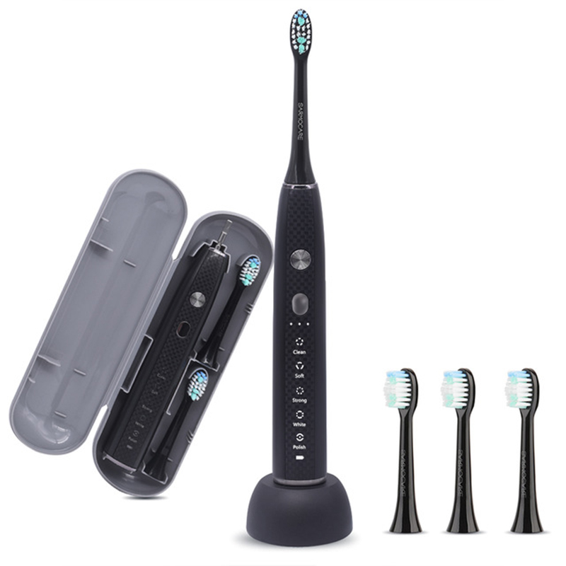 Sarmocare Adult Electric Toothbrush S100 S600 Ultrasonic Sonic toothbrush USB rechargeable battery IPX7 Waterproof